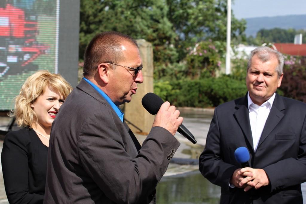 Ing. Jaroslav Nožička a Vlastimil Horák na Jičínském veletrhu 2013 oznamují změnu vlastníka společnosti SPS-VKP s.r.o.